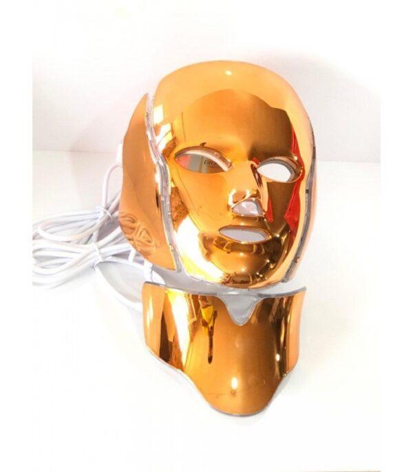 ماسک led نور درمانی گلد